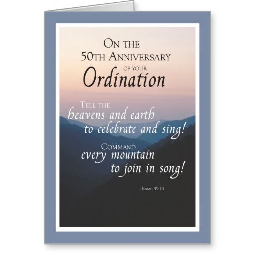 50th anniversary of ordination cards