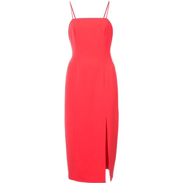 side slit fitted dress - Red LIKELY K6aJsb