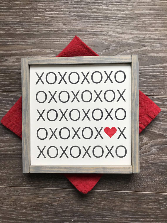 Xoxo Sign Hugs And Kisses Sign Valentines Day Sign Valentines Day
