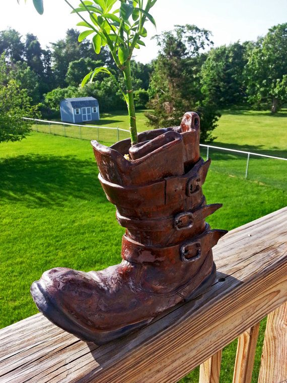 Ceramic Walle Boot Garden Planter By Claynerds On Etsy 400 x 300