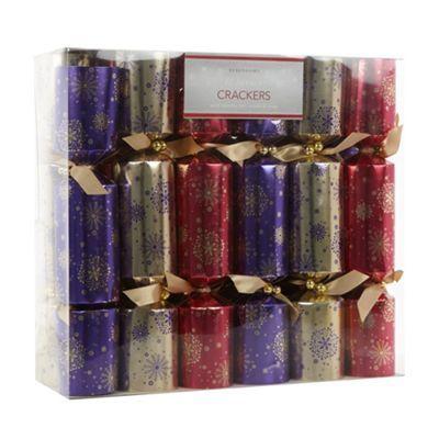 Debenhams Pack Of 12 Luxury Snowflake Christmas Crackers At Debenhams Com Christmas Crackers Snowflakes Novelty Gifts