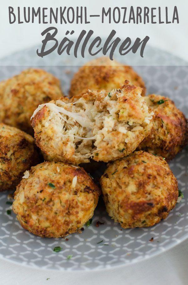 Blumenkohl-Mozzarella-Bällchen - Eine Prise Lecker #fingerfoodkinder