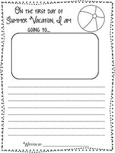 005 Countdown to Summer Writing Prompts & Page Topper