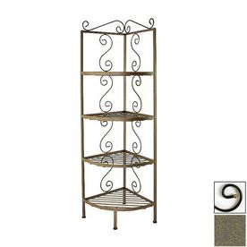 Grace Collection Antique Bronze Corner Bakers Rack Gmc 184cpb Br