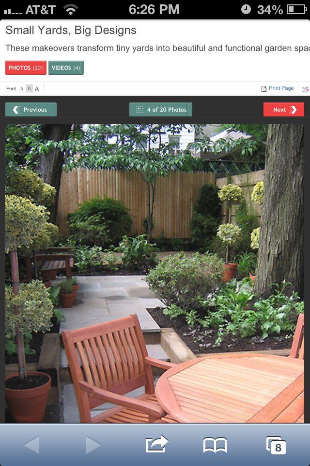 Cute small backyards | Small backyard, Backyard, Small ... on Cute Small Backyard Ideas id=85717