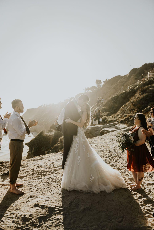 99a563624c0 Surprise Intimate Destination Wedding at El Matador Beach in Malibu