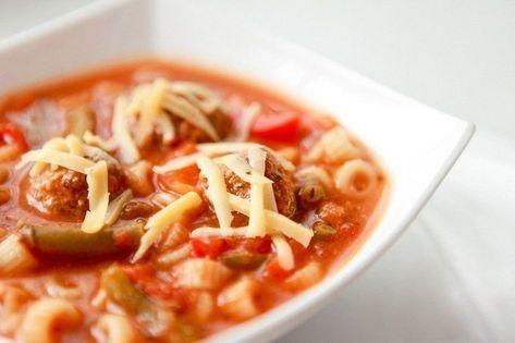 Рецепты со всего света - итальянский суп с фрикадельками ...
