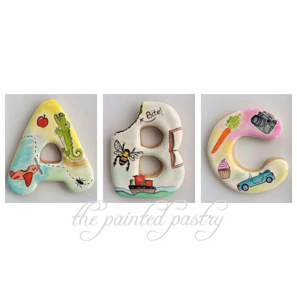 Alphabet cookies by The Painted Pastry