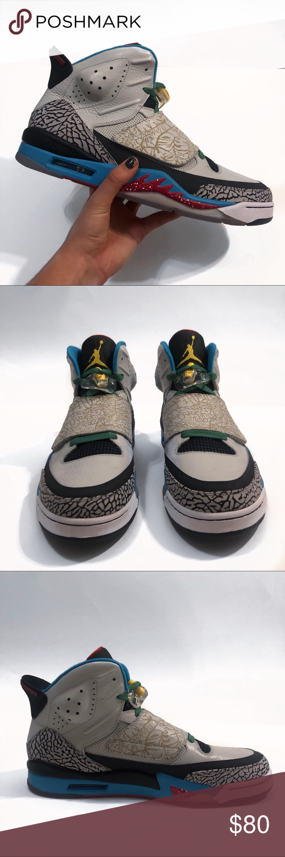"""separation shoes b12c3 dfefb Nike Air Jordan Son Of Mars shoes Brand new Nike Air Jordan Son Of Mars  shoes in """"pop art"""" coloring. Perfect condition. Never worn, only taken out  of the ..."""