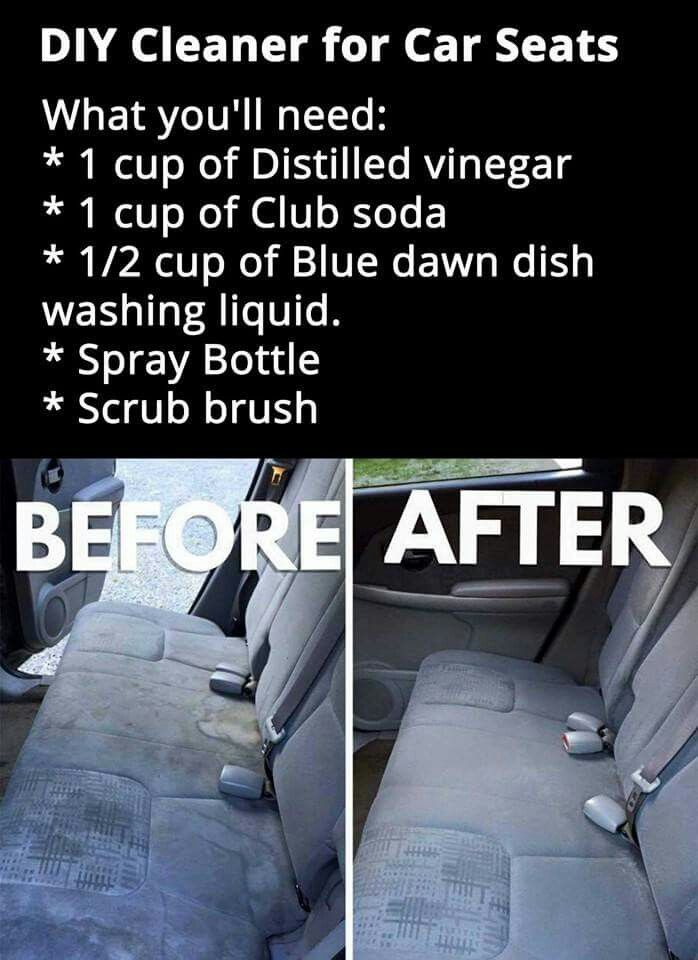 Car Seat Cleaner Cleaning Car Cleaning Hacks Car