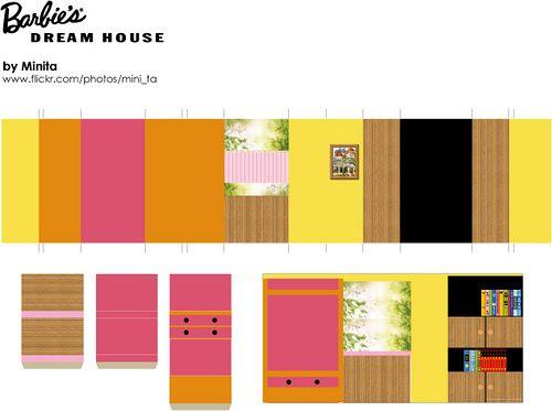 Barbie\u0027s Dream House printables Barbie house, Barbie dream house