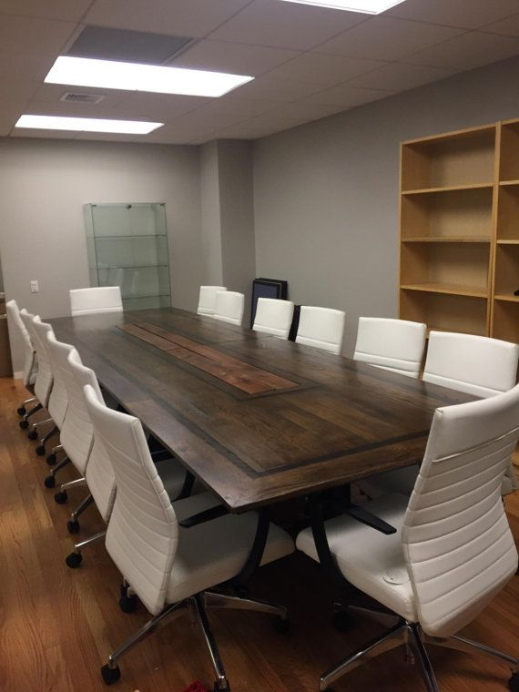 Conference Room Design Ideas: Reclaimed Wood Conference Table With Center By