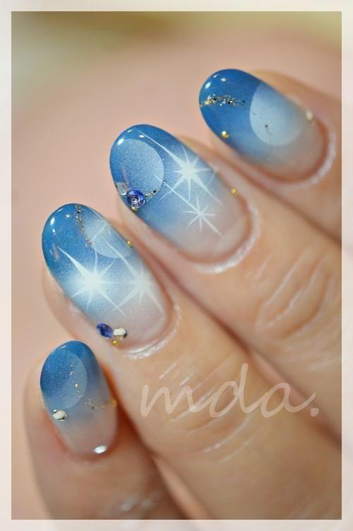 Cool Blue Nail Art Nails Pinterest Creative Nails Nail Nail