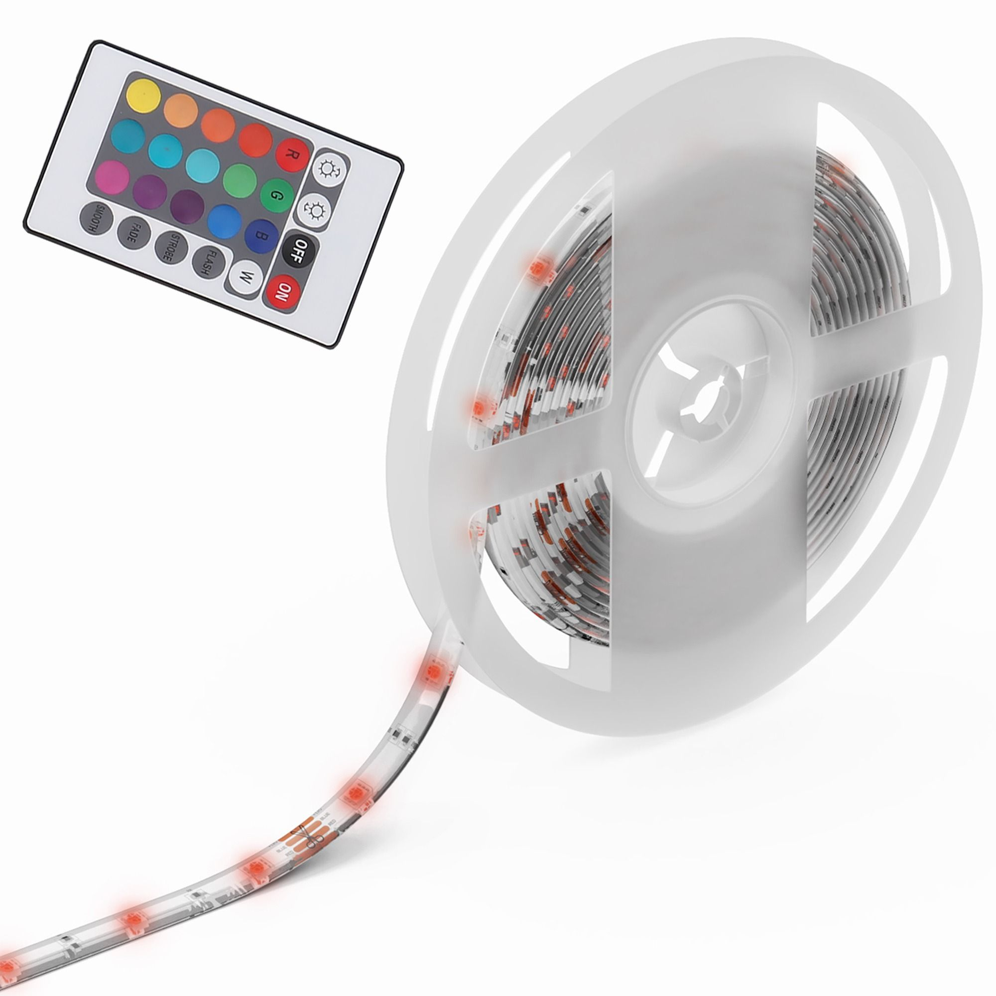 LED Leiste Stripes LED Bänder 5M  inkl Fernbedienung Farbwechsel Selbstklebend