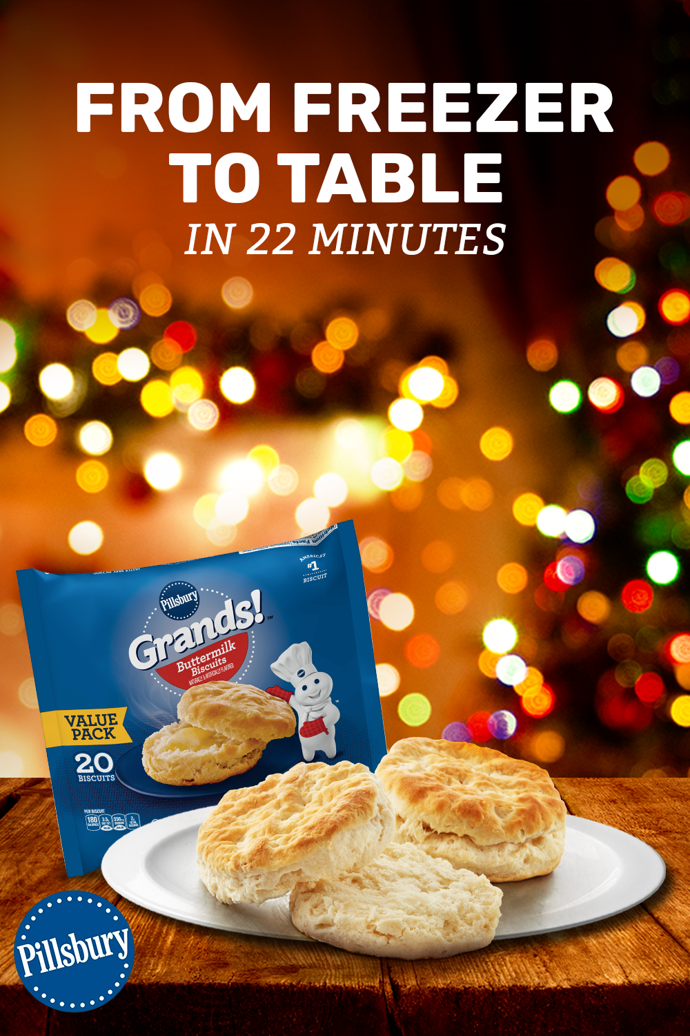 Pillsbury Grands Buttermilk Frozen Biscuits Are A Quick And Easy Way To Add A Delicious Side To Frozen Biscuits Pillsbury Frozen Biscuits Food Network Recipes