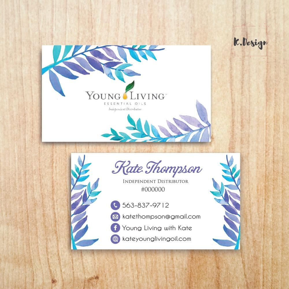 Printable Young Living Business Card, Personalized Young Living