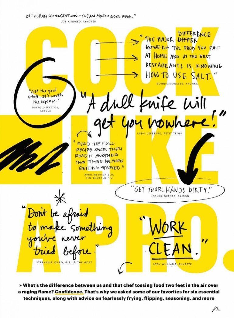 Cook Like A Pro on Inspirationde -   - #Cook #DigitalMedia #GraphicDesign #Inspi...