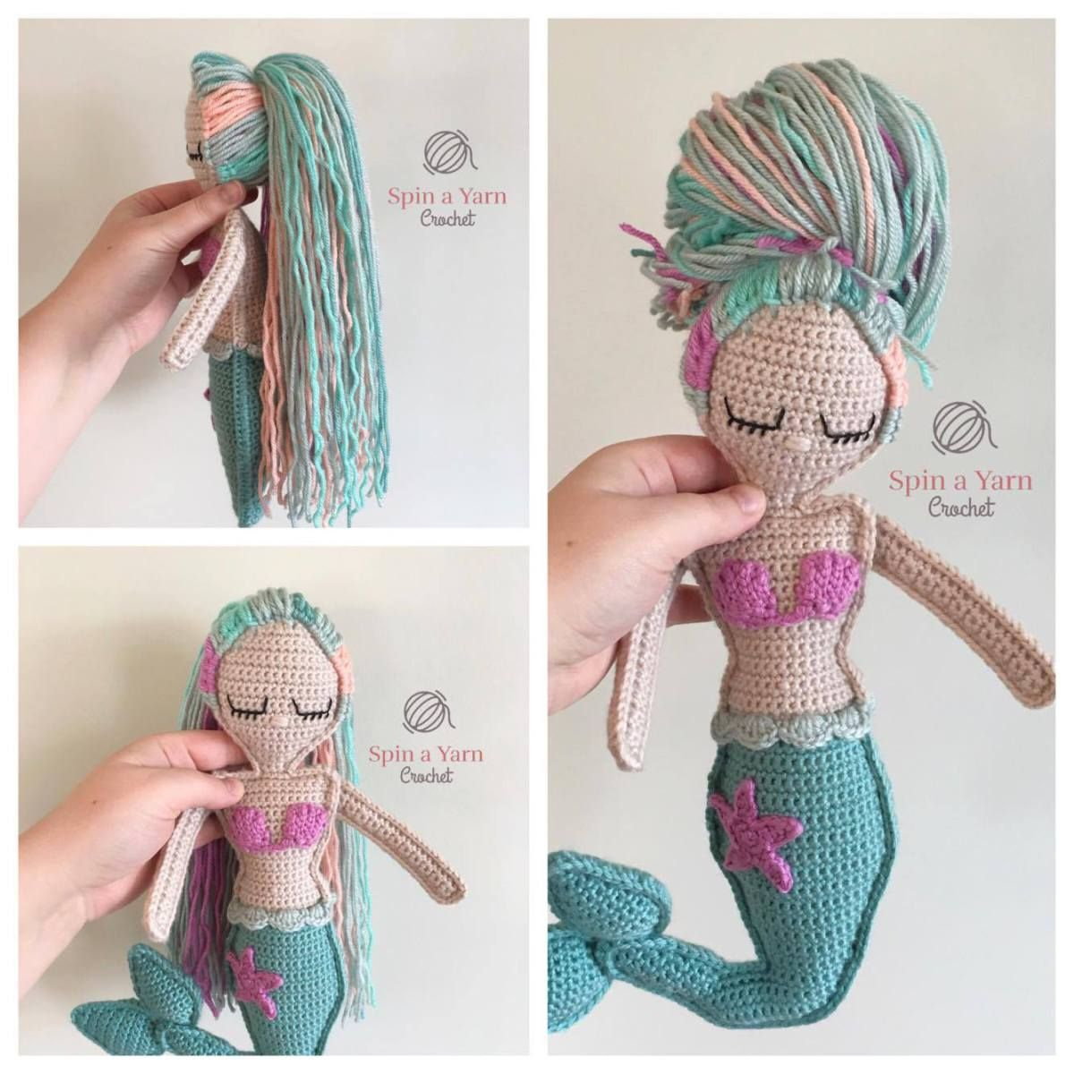 Ragdoll Mermaid Free Crochet Pattern | 101 | Pinterest | Mono ...