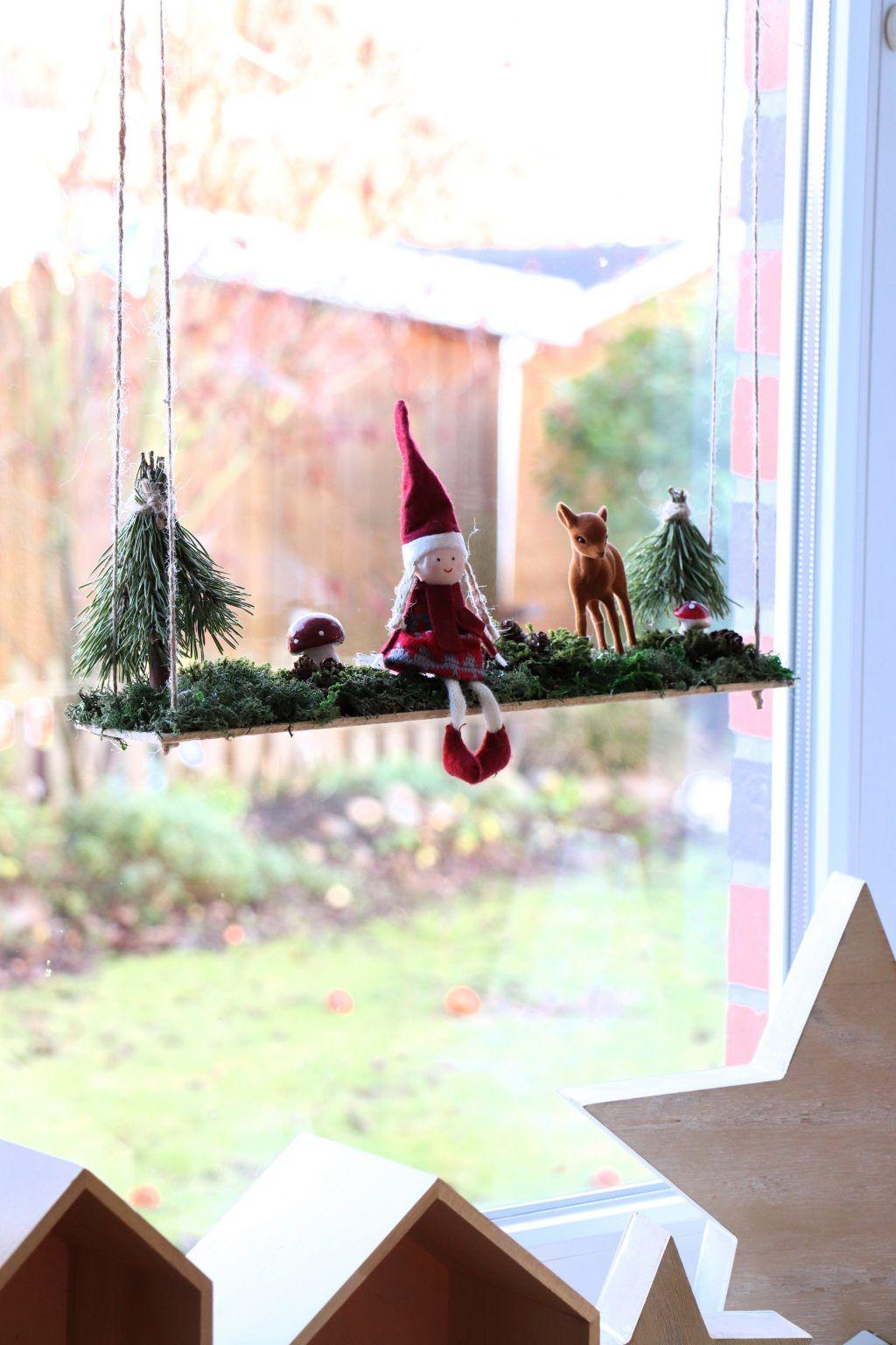 DIY: Wichtelschaukel als weihnachtliche Fensterdeko – Lavendelblog