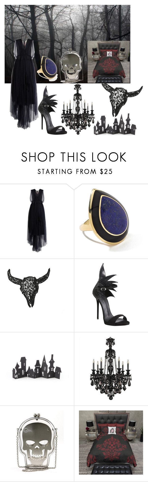 """Dark soul"" by clori86 ❤ liked on Polyvore featuring Delpozo, Ippolita, Giuseppe Zanotti, Crate and Barrel and darksoul"