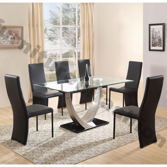 Cassia Glass Dining Table And Chairs, Dining Room Furniture Sets