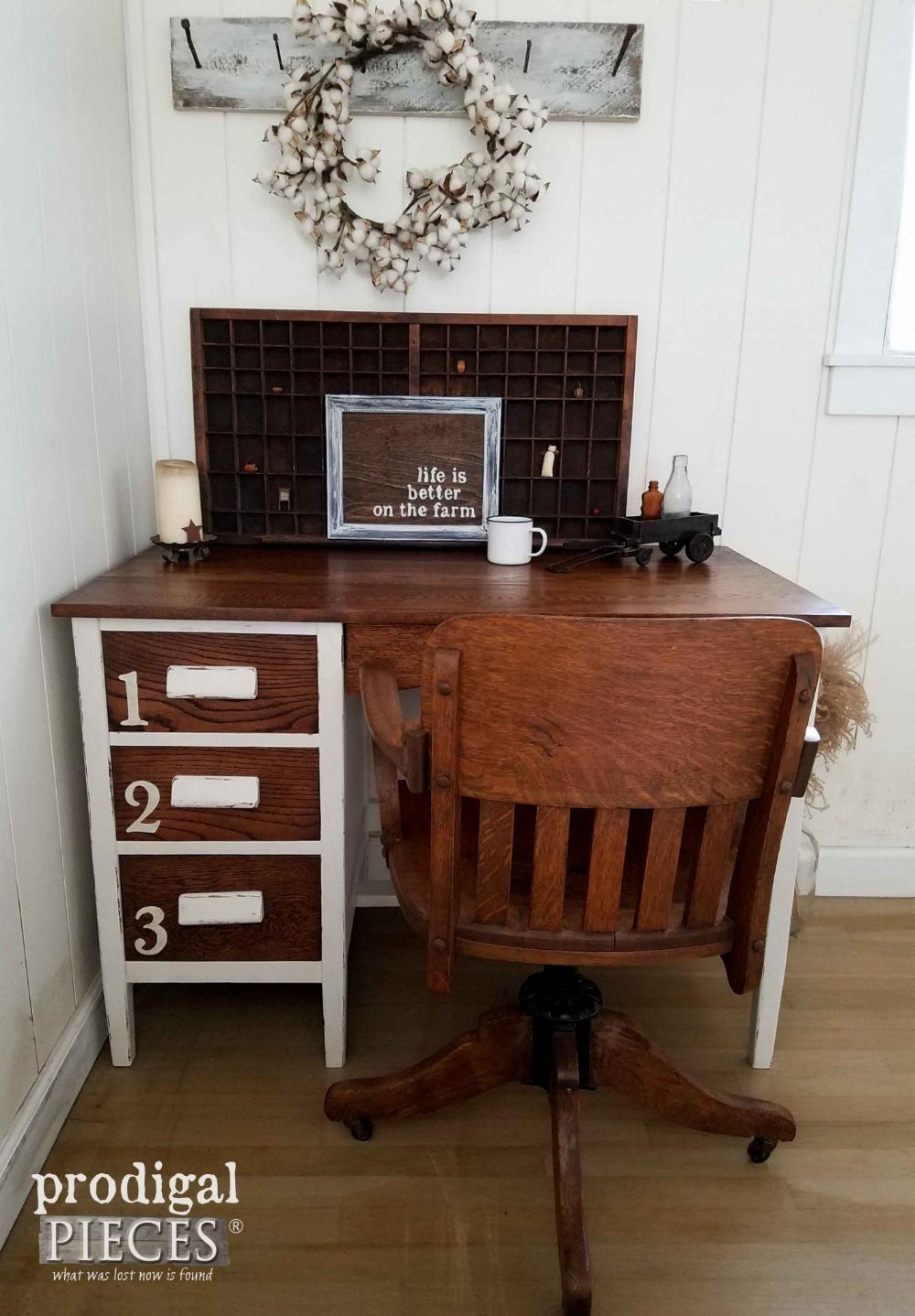 Pin by Sharon Solomon on My vintage home Oak desk