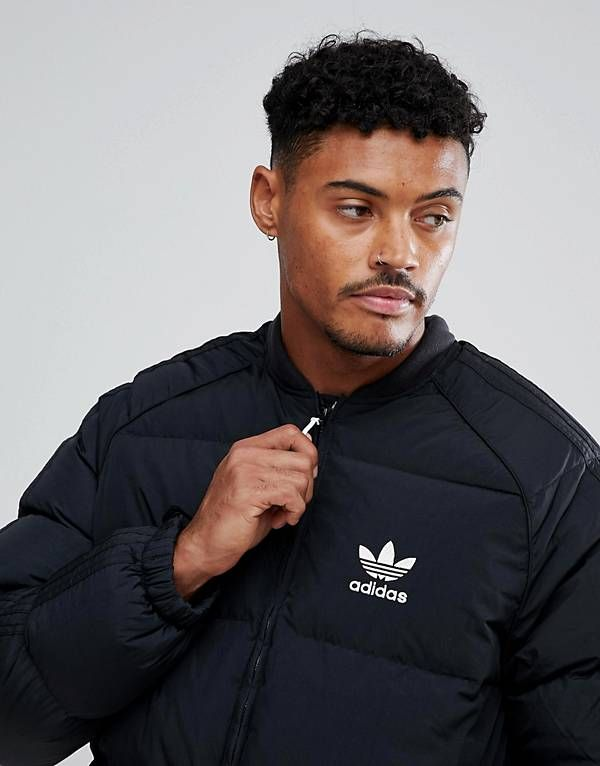adidas originali superstar giacca in nero br9735 abbigliamento sportivo