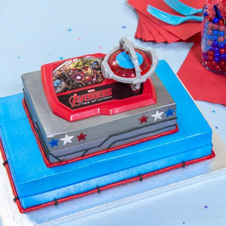 How-To Make a 2-Tier Marvel's Avengers: Age of Ultron Spinning Gyroscope Cake
