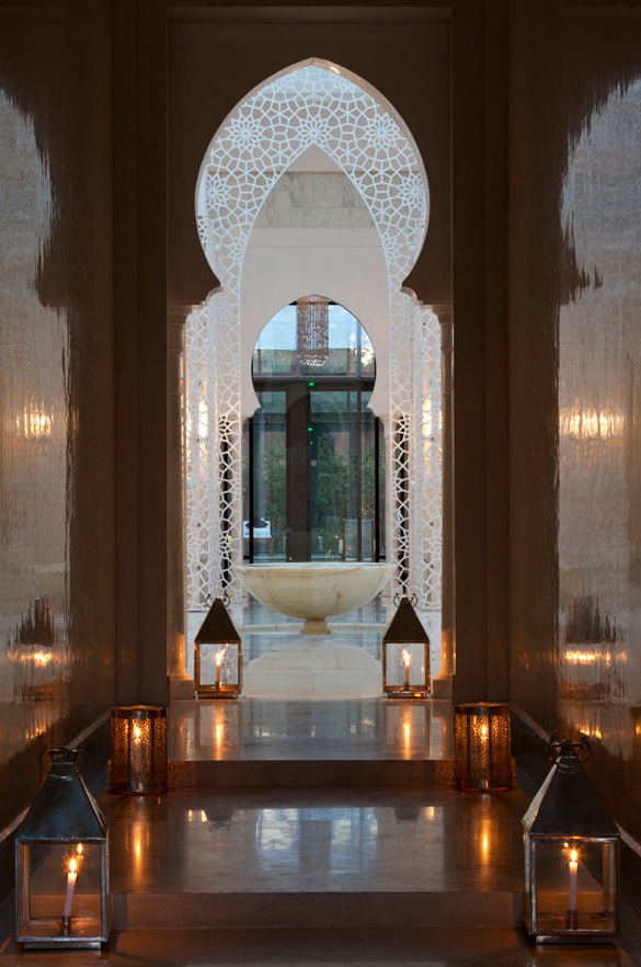 doorway at Royal Mansour hotel - Marrakesh