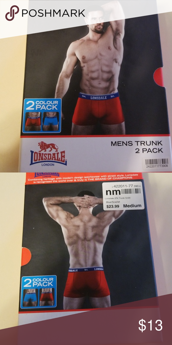 a421de3fca6e 2 pack of mens trunks 2 pack of mens trunk style underwear. Red and blue.  Only opened to take picture. Lonsdale of London Lonsdale London Underwear &  Socks ...