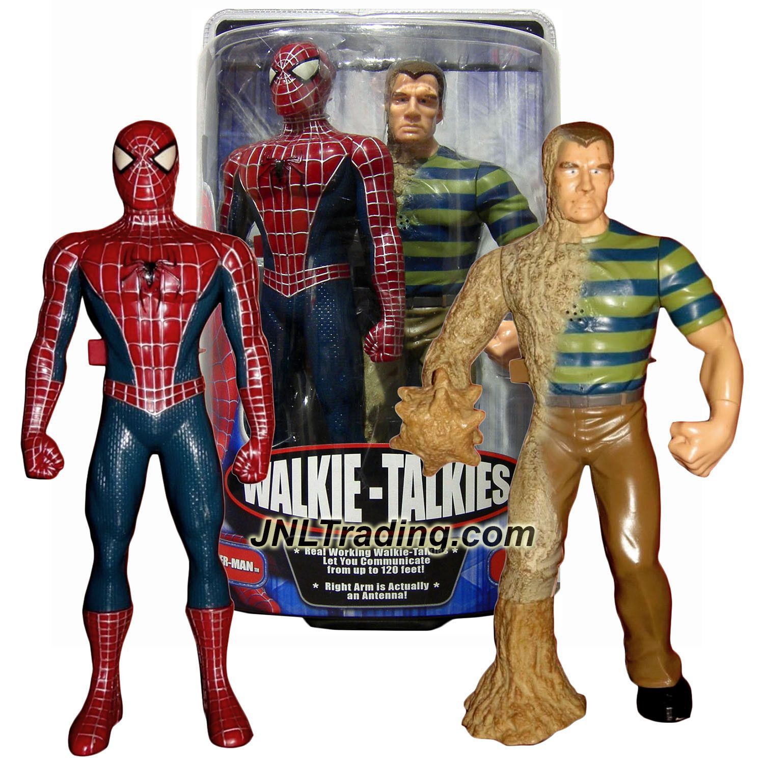 MGA Entertainment Year 2006 Spider-Man 3 Movie 12 Inch Tall Walkie-Talkies Figure Set : SPIDER-MAN and SANDMAN