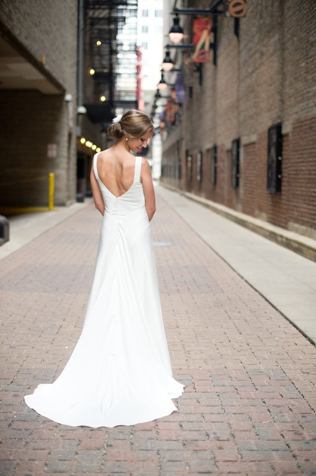 j crew percy gown-- good back, not sure about the boatneck   wedding ...