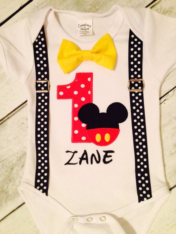 Boys First Birthday Outfit Mickey Mouse By SusuLEMON