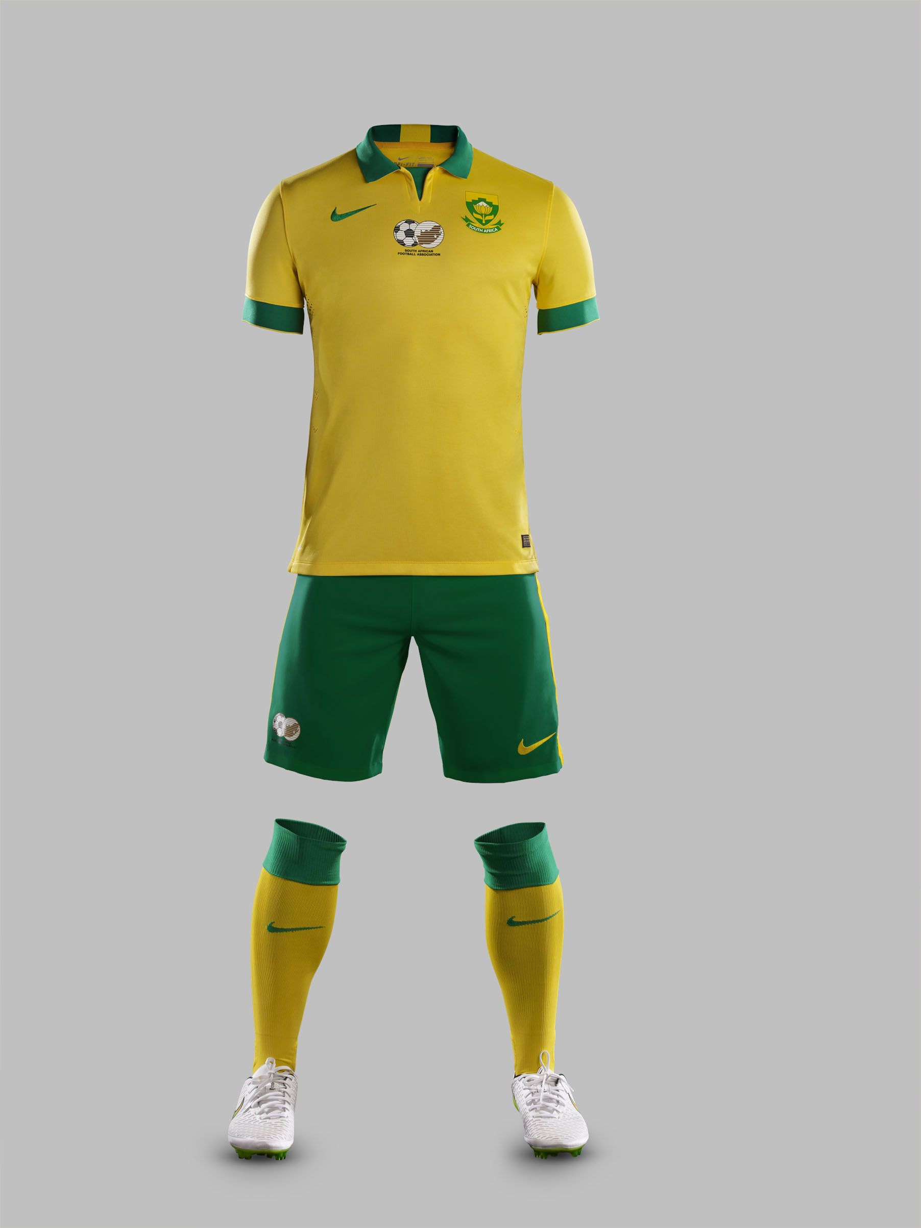 a5ce6f440f1 South African soccer team s new Nike home kit - 3 December 2014. Picture   Nike Football ZA