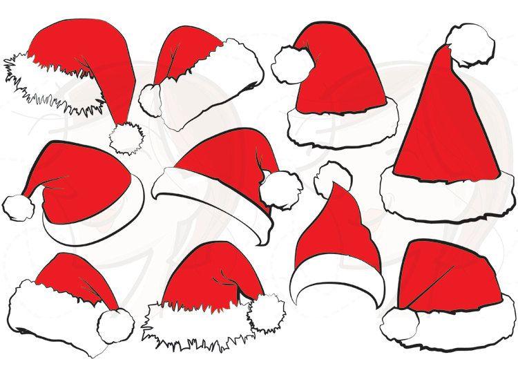 Santa hat svg clipart christmas claus clip art