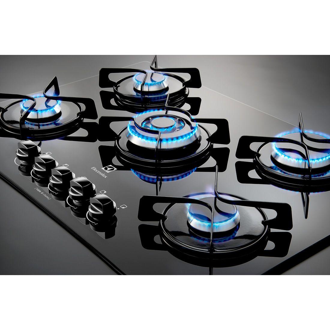 (1) Cooktop 5 Bocas Electrolux - 1 Queimador Tripla Chama Bivolt - R$ 729,90 em Mercado Livre