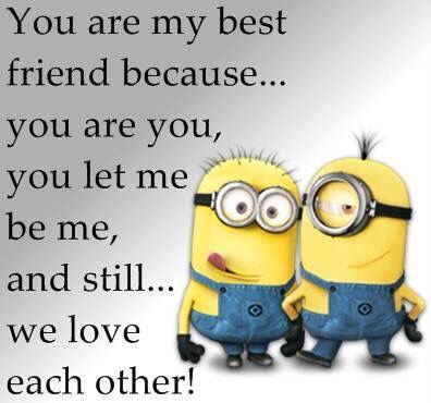 Funny Minion Quote About Best Friends