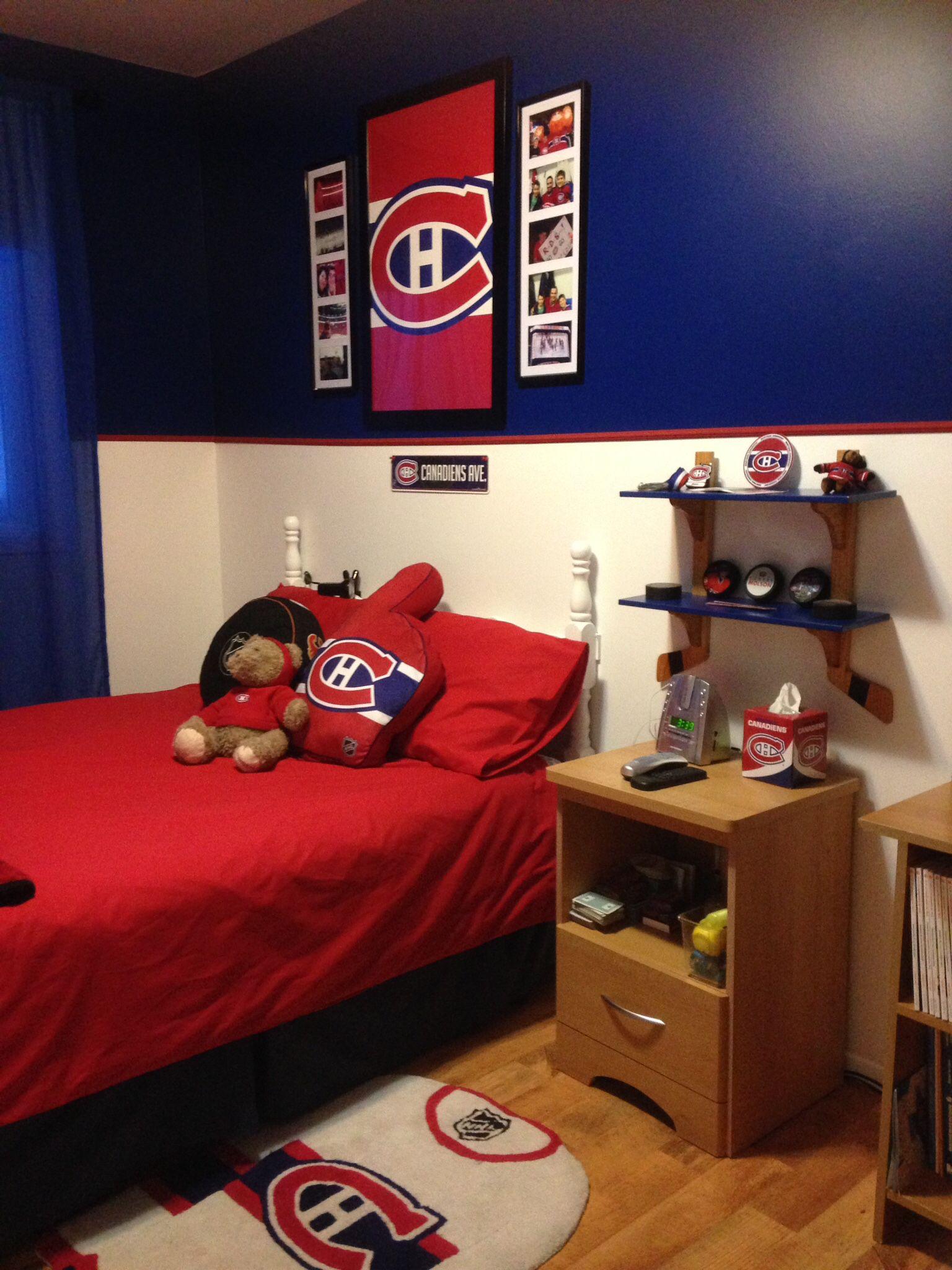 Décoration de la chambre de mon fils, grand fans du CH :)