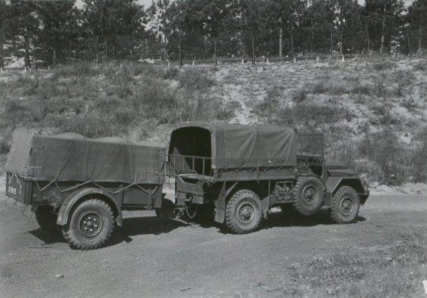 Daf Ya 116 126 1 Ton 4x4 Met Aanhangwagen Militaire Voertuigen Militair Voertuigen
