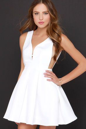 469b4a5574 Our Hopes and Dreams Ivory Skater Dress is a vision of wonder and delight