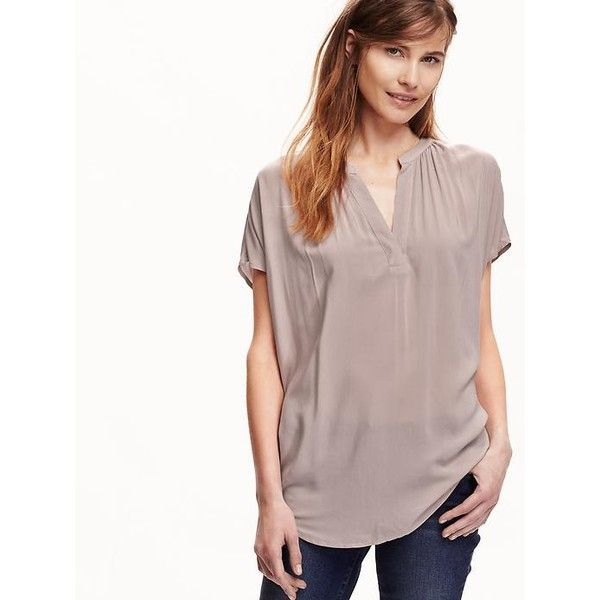 Old navy womens split neck cocoon blouse 16 liked on old navy womens split neck cocoon blouse 16 liked on polyvore featuring sciox Images