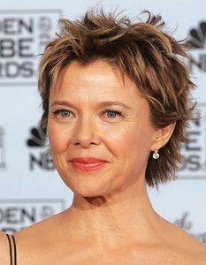 Annette Benning Short Hairstyle For Women In Their 50s Women