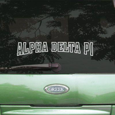 Alpha Delta Pi Sorority Stadium Sticker