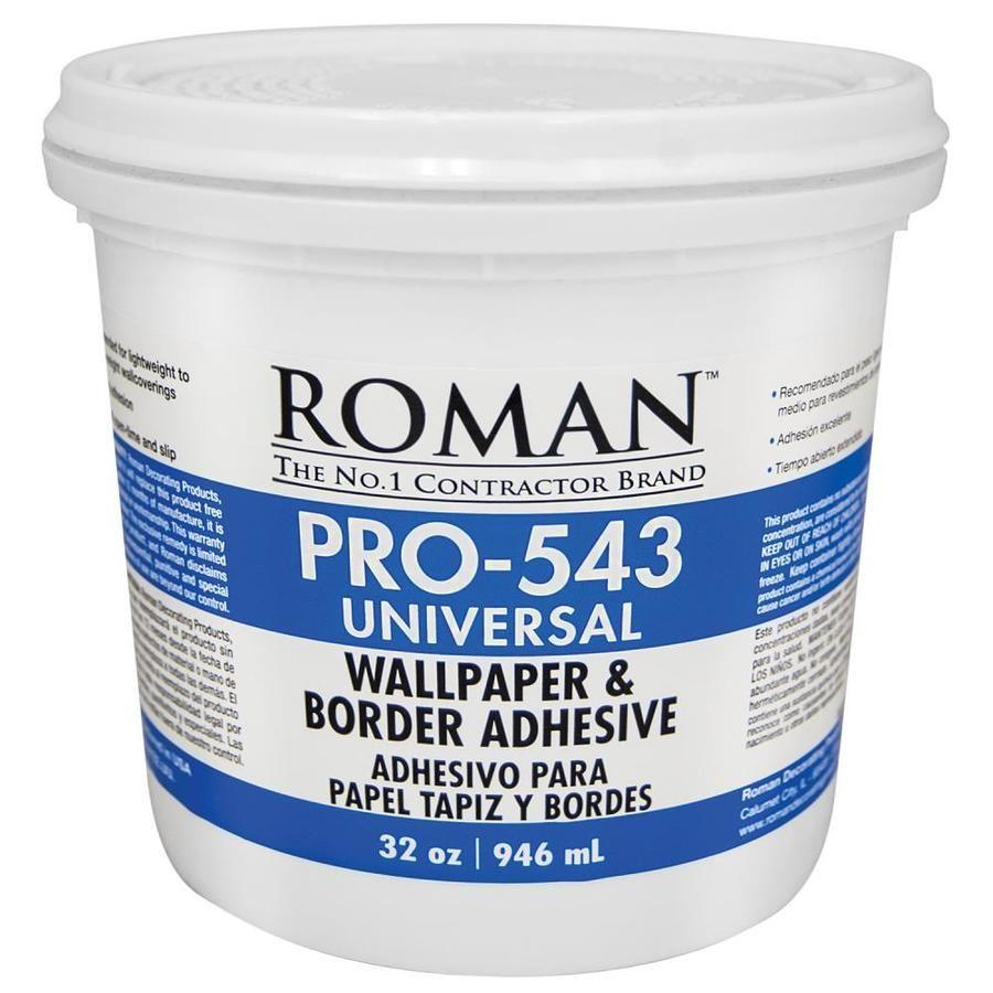 Roman Pro 543 32 Oz Liquid Wallpaper Adhesive Adhesive Wallpaper Paintable Wallpaper Adhesive