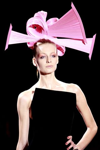 """""""fuck you. this is my hat."""" Arman Prive Fall Couture."""