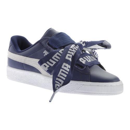 Women s Puma Basket Heart DE Sneaker Blue Depths Puma  e6e0d6459