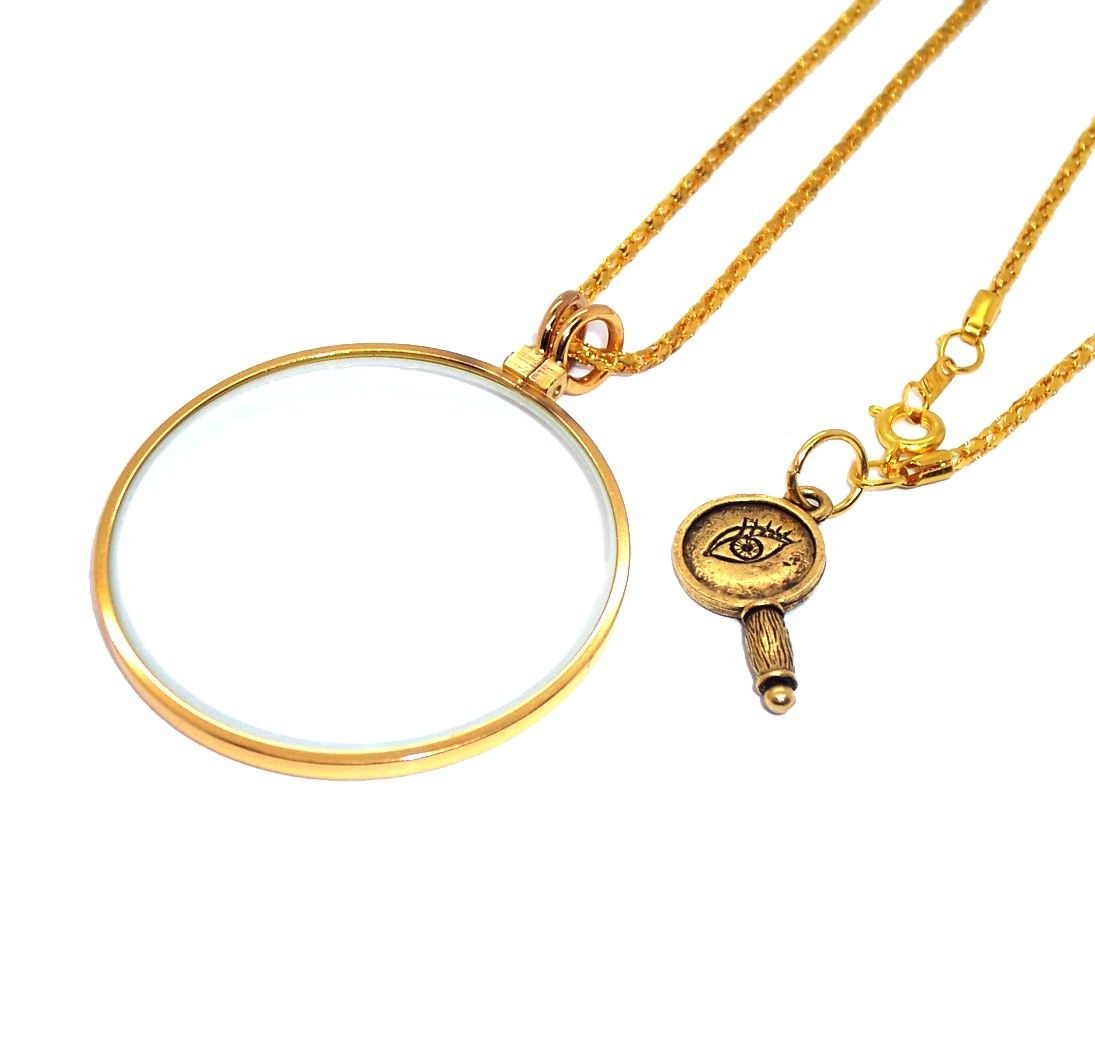 Nancy Drew Magnifier Necklace 12 50 Via Etsy