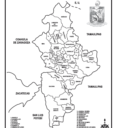 Mapa Tamano Carta 99 Nuevo Leon Division Politica Con Nombres Venta De Material Para Papeleria Mayoreo Monografias Laminas Biografias Mapas Esquemas Ra Geografia Para Ninos Mapas Juegos De Valores