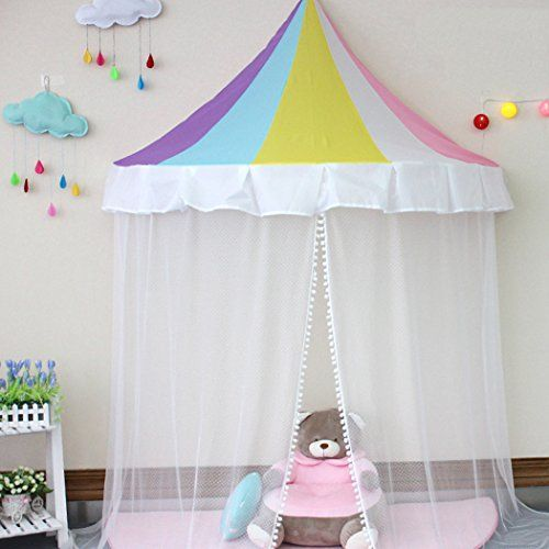 SpringBuds Girls Hanging Bed Canopy Indoor Princess Rainbow Decor Play Tent *** To & SpringBuds Girls Hanging Bed Canopy Indoor Princess Rainbow Decor ...