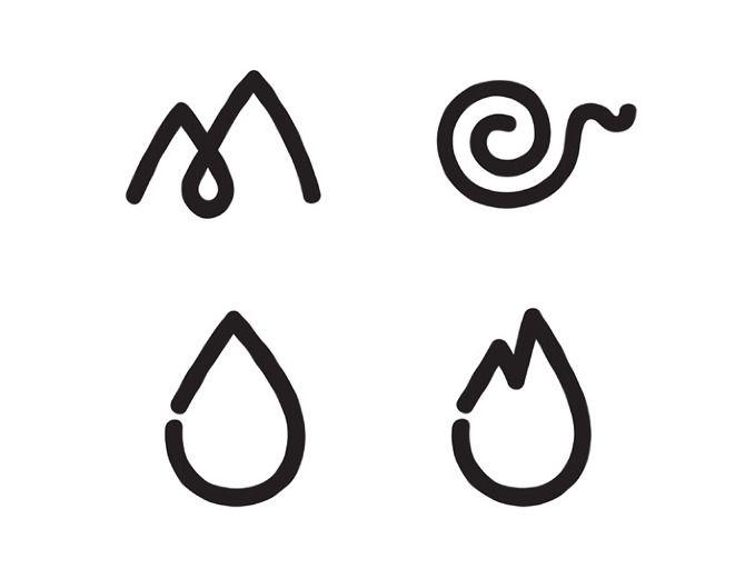 Earth Air Fire Water Symbol Art Pinterest Tattoos Symbols